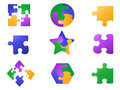 Color jigsaw puzzle icon Royalty Free Stock Photo