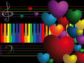Color keys and hearts Stock Photography