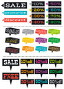 Color labels with sale offer vector illustration Stock Photo