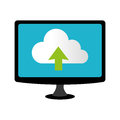 Color lcd monitor with cloud upload service