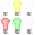 Color light bulbs set Stock Images
