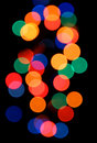 Color lights blurred electric on black background Royalty Free Stock Image