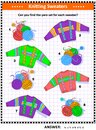 Color matching visual puzzle for kids Royalty Free Stock Photo