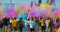 Color Me Rad Color Bombs Royalty Free Stock Image
