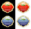 Color medallions Royalty Free Stock Photo