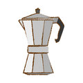 Color metail moka pot icon Royalty Free Stock Photo