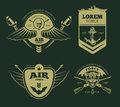 Color military vector patches Royalty Free Stock Photo