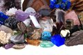 Color minerals and gems collection