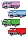 Color mini-trucks Royalty Free Stock Images