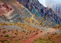 Color mountains in Aconcagua national park. Andes Royalty Free Stock Photo