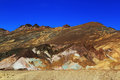 Color mountains of death valley the variegated slopes artists palette in california various mineral pigments have colored the Stock Photo
