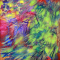 Color of nature - plant, oil on canvas Royalty Free Stock Photo