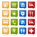 Color navigation icons Royalty Free Stock Photography