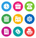 Color office icons Royalty Free Stock Images