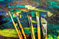 Color Oil Painting Texture Wit...
