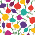 Color onion seamless pattern Stock Images