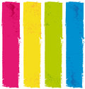 Color paint banners. Royalty Free Stock Photo