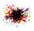 Color paint splashes Stock Photography