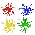 Color paint splashes Royalty Free Stock Images