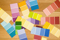 Color paint swatches. Royalty Free Stock Photo