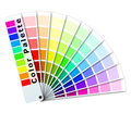 Color palette fan isolated on white eps Royalty Free Stock Images