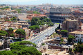 Color panoramic view Rome Royalty Free Stock Photography