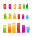 Color paper arrows Royalty Free Stock Photography
