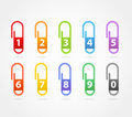 Color paper clips Stock Photo