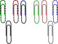 Color paper clips Stock Photography