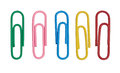 Color paper clips Royalty Free Stock Photo