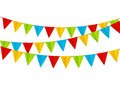 Color party flags isolated Royalty Free Stock Photo