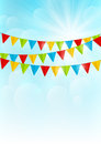 Color party flags Royalty Free Stock Photo