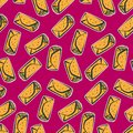 Color pattern with cute cartoon mexican burrito