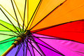 Color pattern of an umbrella rainbow the Stock Photography