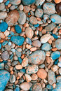 Color pebble collected in Germany Stock Image