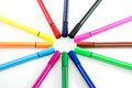 Color pen on white background Royalty Free Stock Photo