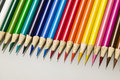 Color pencil crayons Stock Images