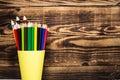 Color pencil in a cup