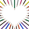 Color pencil frame Stock Photography