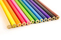 Color pencil group of on white background Stock Photography