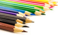 Color pencil group of on white background Stock Photos