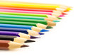 Color pencil group of on white background Royalty Free Stock Images