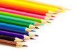 Color pencil group of on white background Stock Images