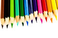Color pencil group of on white background Royalty Free Stock Photography