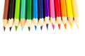 Color pencil group of on white background Stock Photo