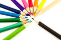 Color pencil group of on white background Royalty Free Stock Photos