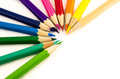 Color pencil group of on white background Stock Image