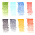 Color pencil texture on white paper Royalty Free Stock Image