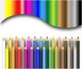 Color pencils background Stock Photo