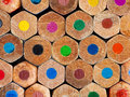 Color pencils background Stock Images